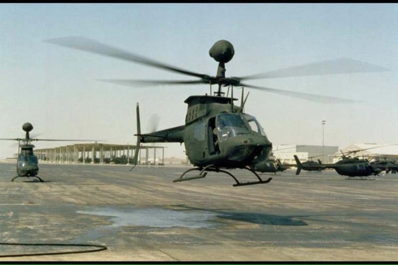 航特部OH-58D直升機飛訓 不明原因重落地