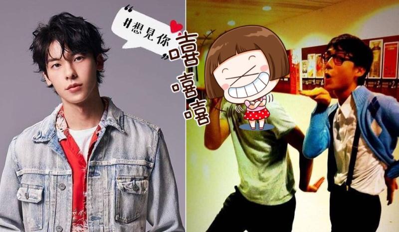 ▲許光漢高中搞笑照片(右)首度曝光。(圖/許光漢臉書&大鶴提供)