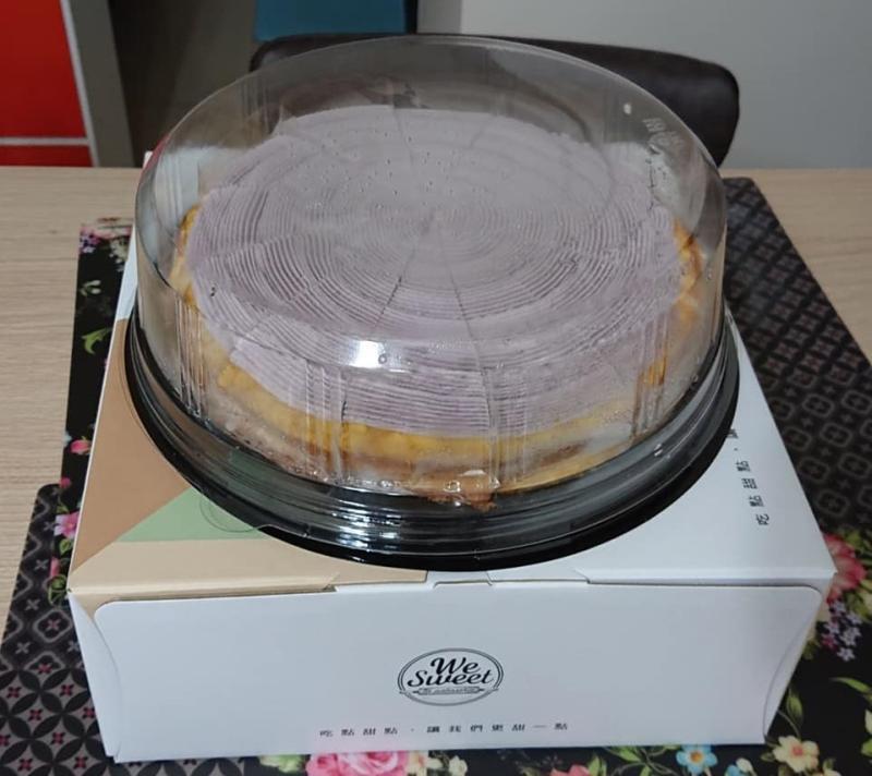 ▲芋泥千層蛋糕,滿滿的芋泥令人垂涎。(圖/翻攝自我愛全聯-好物老實説)