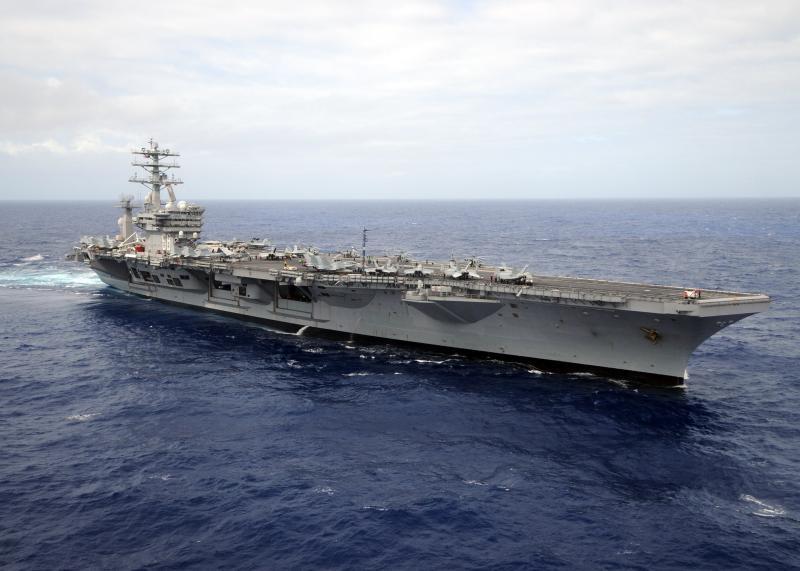 ▲美國海軍尼米茲號核動力航空母艦(USS