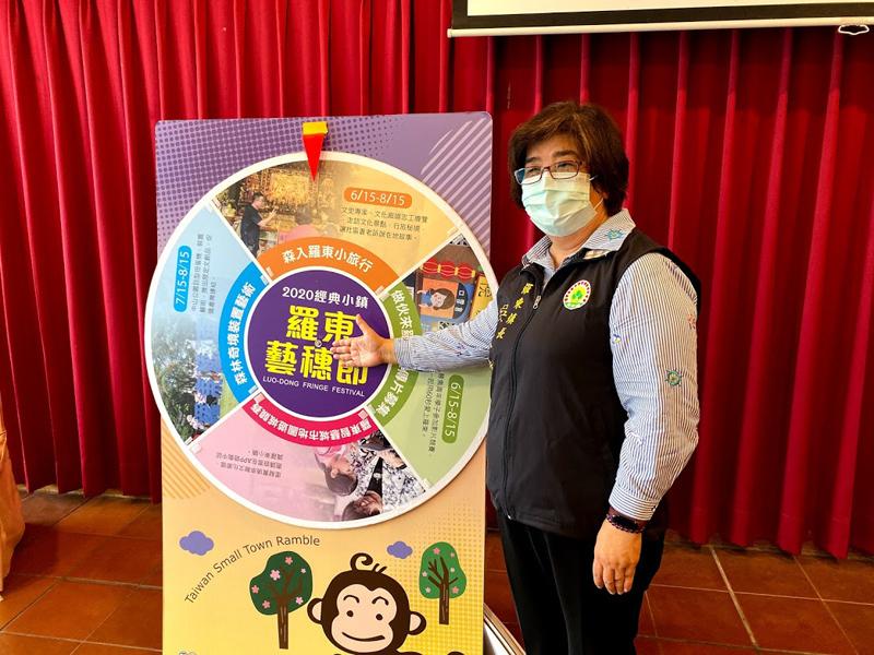 羅東鎮長吳秋齡表示,受到新冠肺炎疫情影響,今年羅東藝穗節將改以四個階段穿插活動