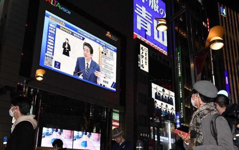 ▲日本延長「緊急事態宣言」至5/31 。(圖/翻攝自 NHK )
