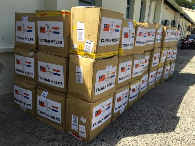 ▲台灣曾捐贈巴拉圭百萬片口罩。(圖/翻攝中華民國駐巴拉圭大使館臉書)