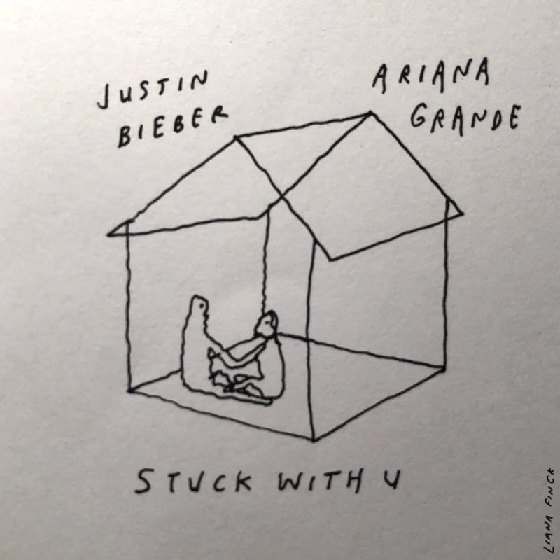 ▲亞莉安娜、小賈斯汀一起合作推出防疫單曲。(圖/環球音樂提供)