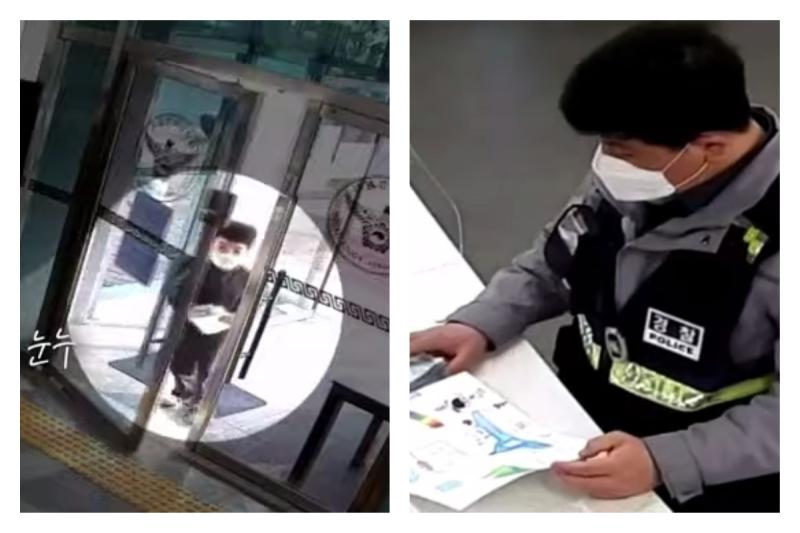 ▲韓國暖心弟跑步進警局!「 1 舉動」 3.1 萬人讚爆。(圖/翻攝自 경찰청(폴인러브) FB )