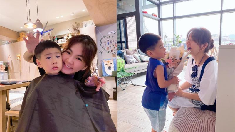▲Ella透露兒子不想跟媽媽過母親節。(圖/Ella臉書)