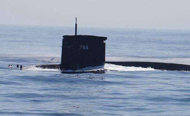 ▲海軍劍龍級潛艦海虎號。(圖/記者呂炯昌攝)
