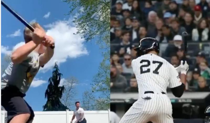 MLB/有其父必有其子!怪力男與兒子一起轟出場外彈