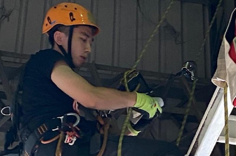 ▲考取國際合格證照的消防替代役男詹俊皓。(圖/嘉義市消防局提供)