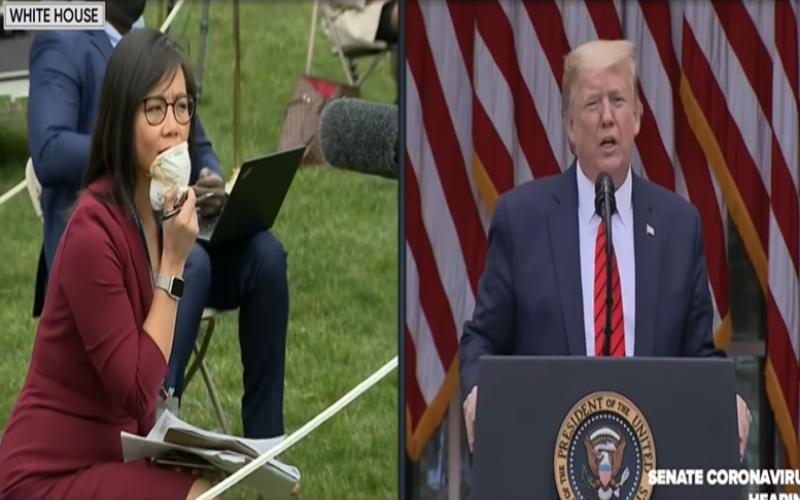 去問中國囉!川普脫序言行再一樁 與亞裔女記者對槓