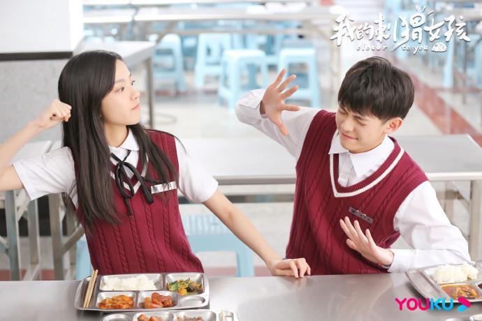 ▲莊達菲(左)、李逸男主演《我的刺蝟女孩》。(圖 / 小鐡匠影視提供)