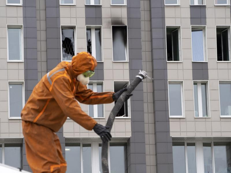 ▲俄羅斯聖彼得堡的聖喬治醫院發生呼吸機起火意外,釀成5人死亡的悲劇。(圖/達志影像/AP)