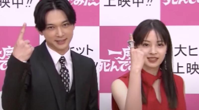 ▲吉澤亮(左)廣瀨鈴台語講「靠北少女」超逗趣。(圖/双喜電影)