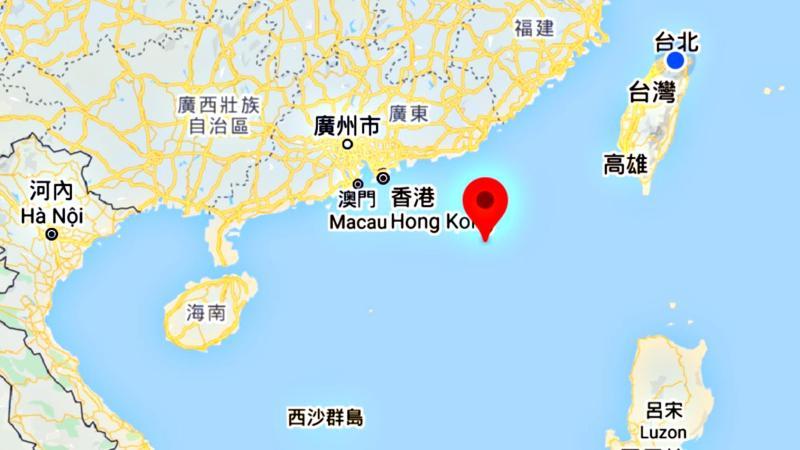 ▲東沙島距離台灣本島430公里。(圖