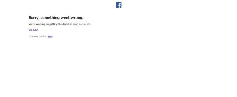 ▲Facebook今(13)中午突發故障,不少粉絲專頁或社團無法貼文或瀏覽。(圖/擷取自Facebook)