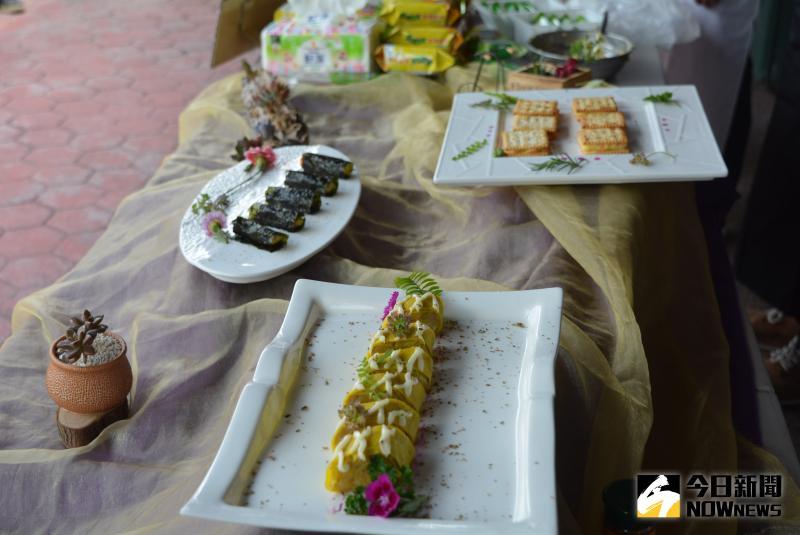 ▲國宴主廚劉邦傳與嘉義市廚師職業工會示範做出的烤地瓜創意料理。(圖/記者郭政隆攝影2020.5.14)