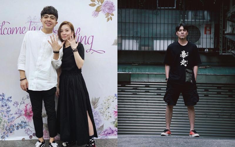 ▲凱開(左1)和女友宣布結婚,嘎嘎(右)爆氣發文。(圖/凱開、嘎嘎IG)