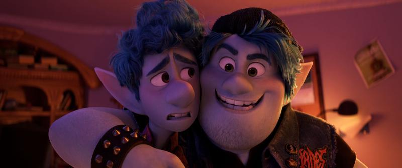 ▲▼克里斯普瑞特和湯姆霍蘭德在《1/2的魔法》扮演兄弟。(圖/迪士尼)