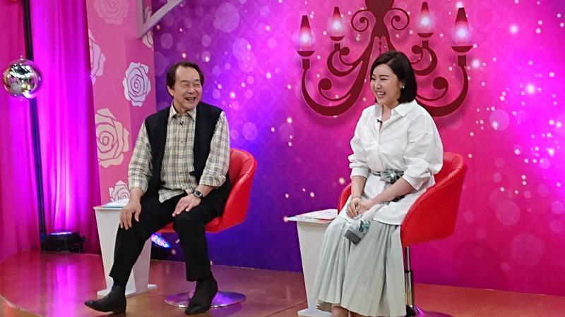 ▲張魁(左)與女兒娃娃首度合作戲劇。(圖