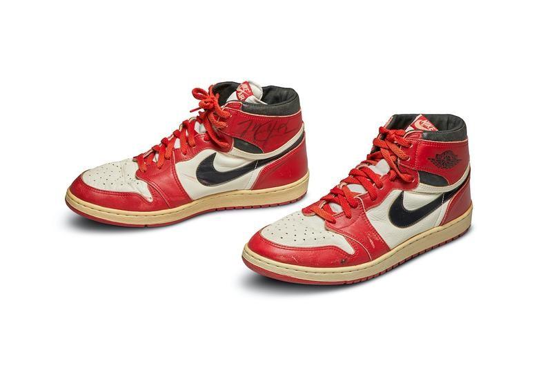 ▲Air Jordan1球鞋以天價賣出。(圖/取自ESPN)