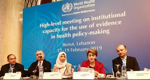 ▲世界衛生組織於黎巴嫩舉行的區域會議。(圖/翻攝自