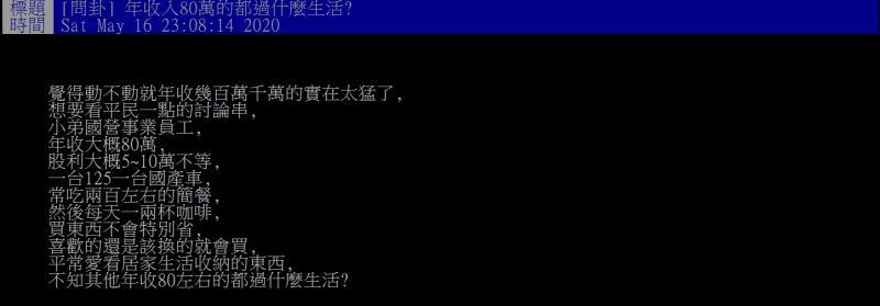 ▲網友詢問年薪