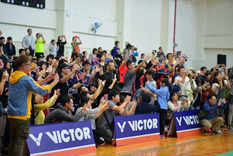 ▲2019運動在南科,羽球球后戴資穎下場打球,觀眾席爆滿。(圖/南科管理局提供提供)