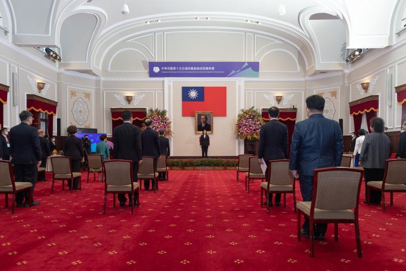 ▲蔡英文總統今(20)日宣誓就職。(圖/翻攝自蔡英文臉書)