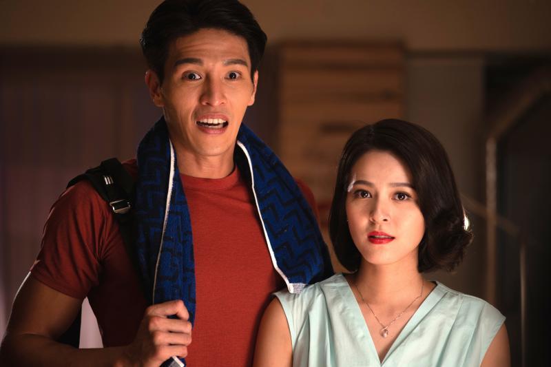 ▲蘇晏霈(右)表示和陳禕倫對戲感受很舒服。(圖