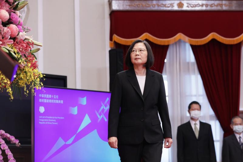 蔡英文展開第二任總統任期