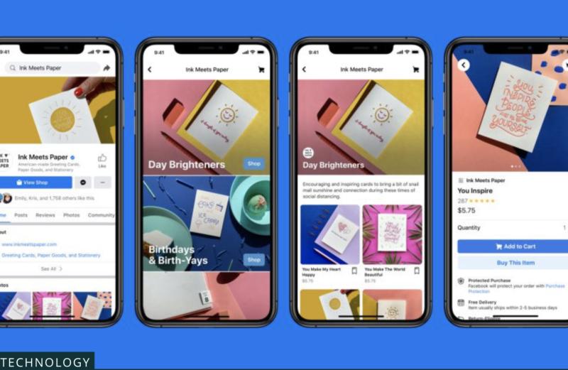 臉書商店未來可能將於台灣正式上線。臉書商店週二於英國、愛爾蘭的IG、臉書上線。(圖|翻攝自臉書)