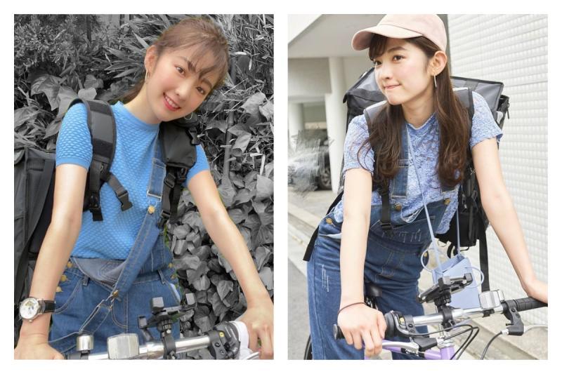▲日本前 SKE48 成員神谷由香,最近當起外送員,笑容一樣超甜美。(圖/翻攝自神谷由香 IG )