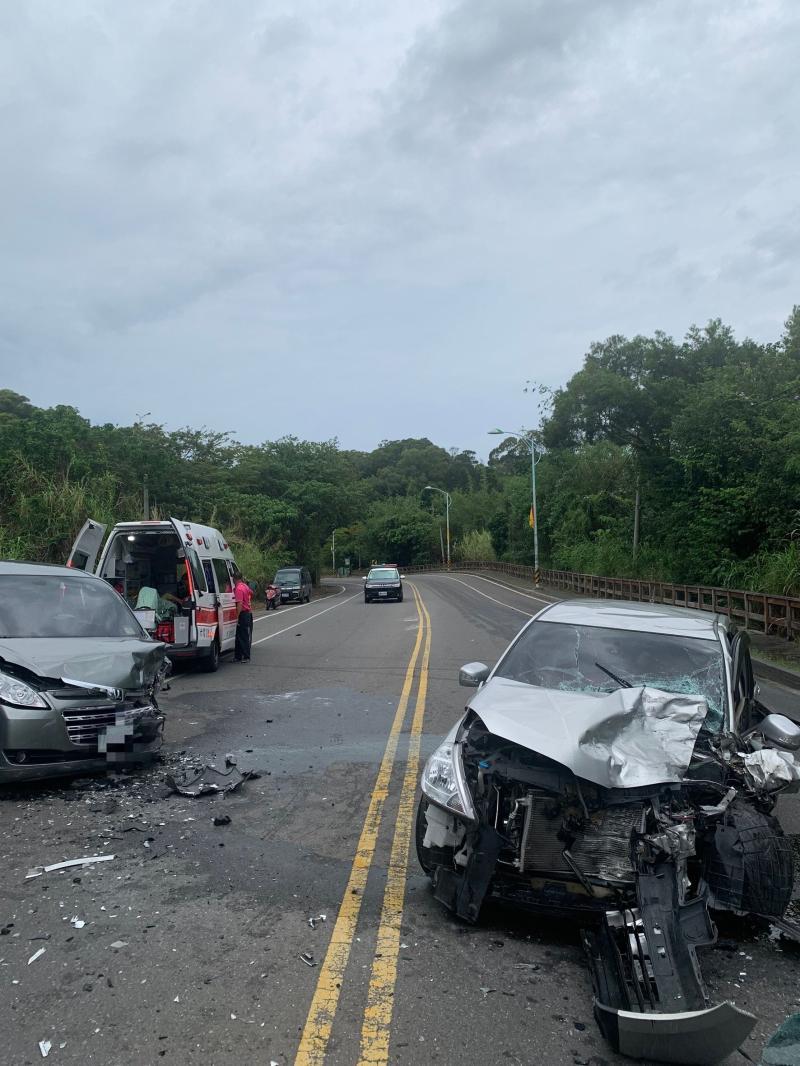 ▲這起造成一死兩人輕重傷的車禍,發生在彰化八卦山區139線,事故現場一片狼藉