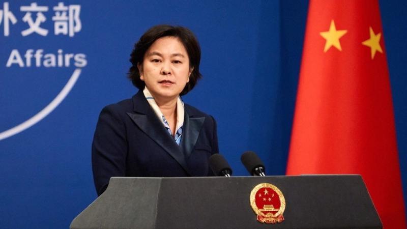 ▲中國外交部發言人華春瑩。(圖/翻攝自《香港 01 》)