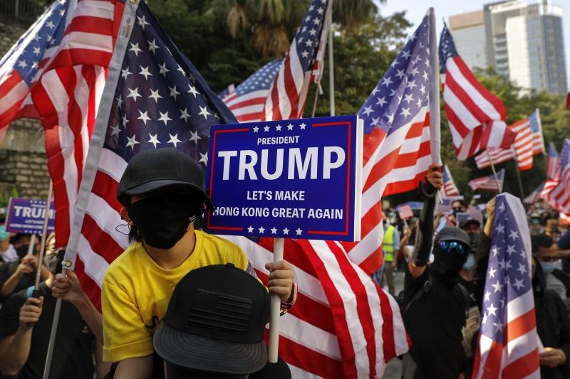 ▲來自美國等方的支持,被認為是香港民主運動的強大後盾。資料照。(圖/美聯社/達志影像)