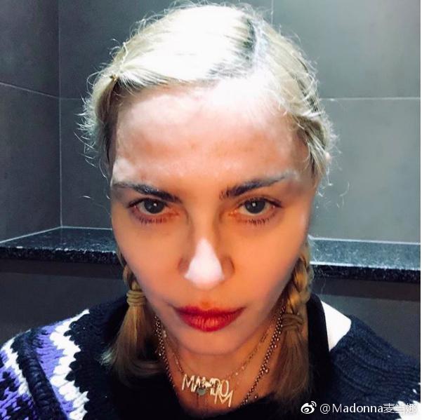 ▲▼瑪丹娜不甩網友抨擊,PO露點照片。(圖/瑪丹娜IG)