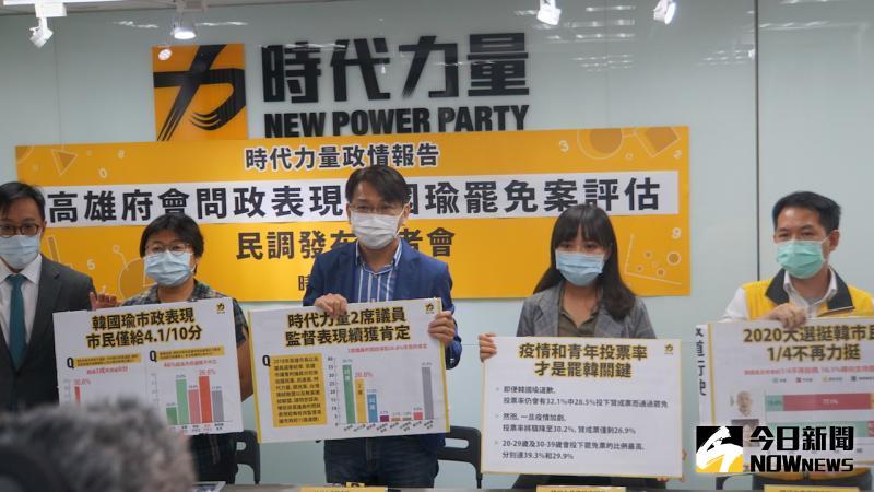 時代力量公布罷韓民調,56.4%受訪者同意罷免韓國瑜。
