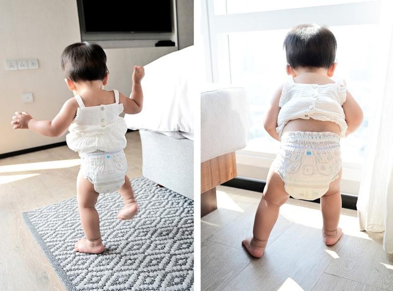 ▲不少爸媽都認為,幫寶適拉拉褲快速穿脫方便,出門不必到處找尿布台,幫好動的寶寶換尿布變得很容易。(圖/資料照片)