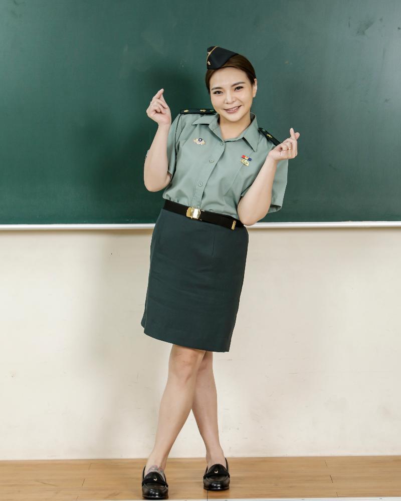 ▲小甜甜演出網劇《教官怎麼辦!》。(圖