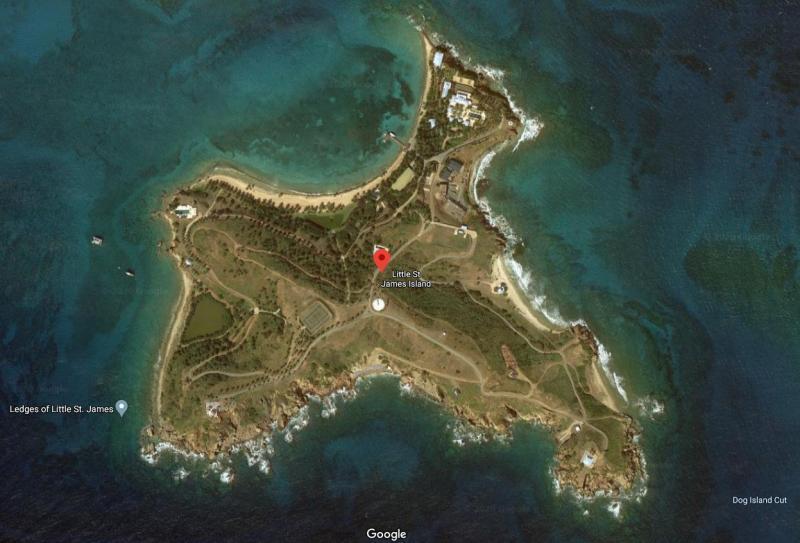 ▲艾普斯汀的私人島嶼小聖詹姆斯島(Little
