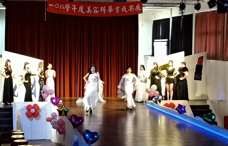 ▲大成美容科擁有專業級的伸展舞台。(圖/記者蘇榮泉攝,2020.05.26)