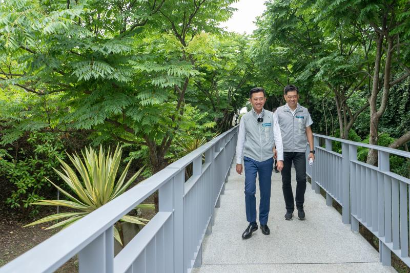 竹市17公里中繼站紅樹林公園啟用  濕地夕照盡收眼底