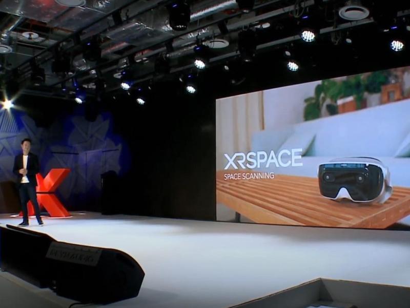 ▲XRSPACE發表會上,公開「空間掃描」功能。(圖/資料照片)