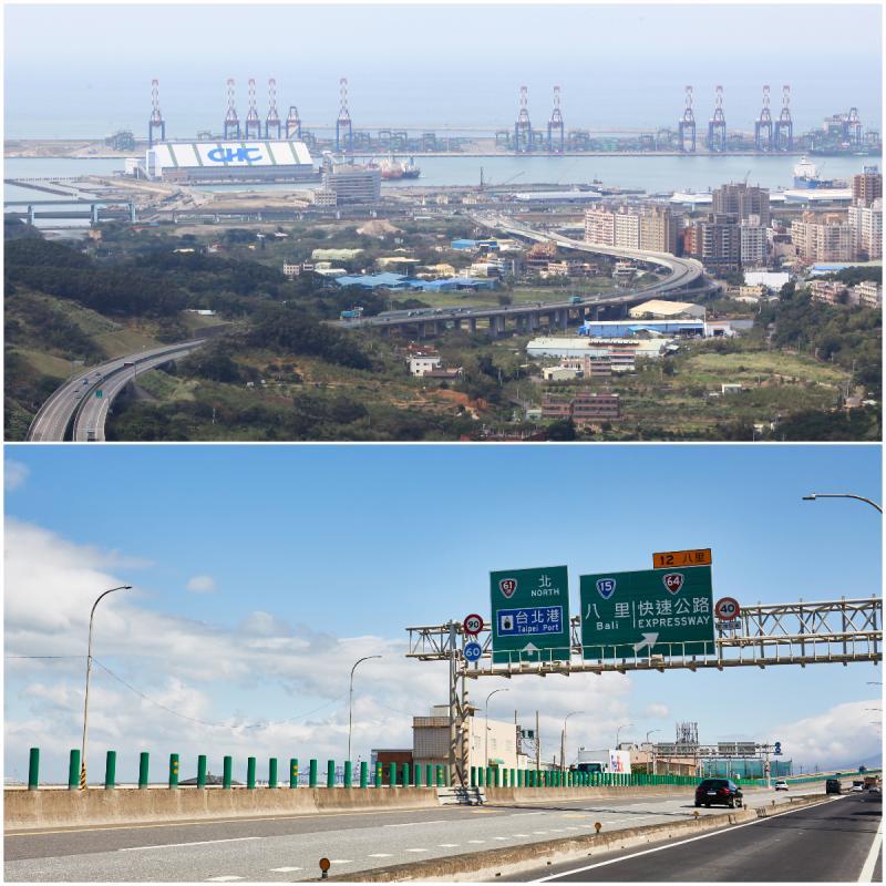 ▲八里區內有台北港與台61、64雙快速道路,是北台灣重要的海陸貿易交通要塞。(圖/公關照片)