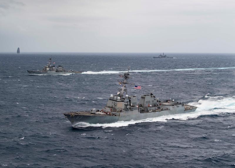 ▲美國海軍馬斯廷號驅逐艦。(圖/翻攝自臉書)