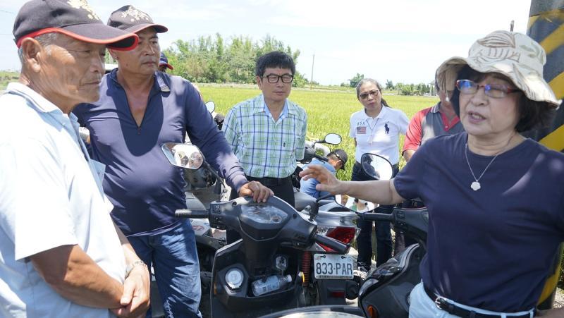 ▲蘇治芬除呼籲農民要加入農業保險。(圖/記者蘇榮泉攝,2020.05.31)