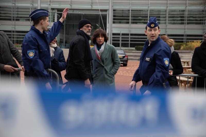 ▲▼傑佛瑞狄恩摩根(上圖右、下圖中)飾演紐約刑警,調查連環殺人案。(圖/甲上)