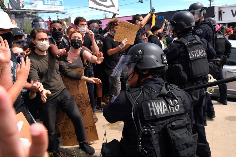中國官媒稱美抗議是「反送中」翻版 被邪惡香港勢力干涉