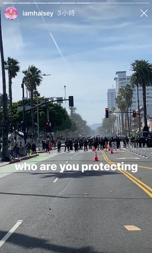 ▲海爾希上街示威遊行,竟被武裝警察丟催淚彈以及遭橡膠彈射擊。(圖/翻攝海爾希IG)