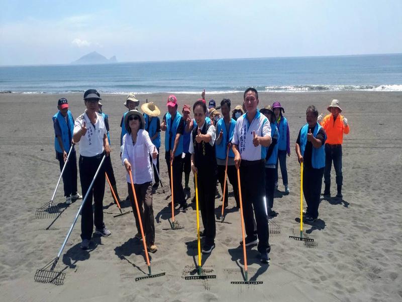 東北角暨宜蘭海岸國家風景區管理處與壯圍鄉公所共同成立海灘巡護隊